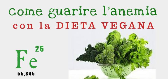 Come guarire l'anemia con la dieta vegana