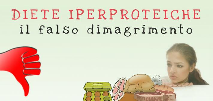 Diete iperproteiche e falso dimagrimento